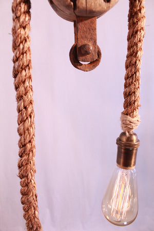 Double Rope Pulley Pendant - Antlerworx