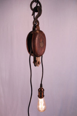 Double Wire Pulley Pendant - Antlerworx