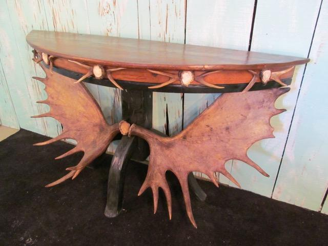 Half Moon Moose Console Table (ST-5) - Antlerworx