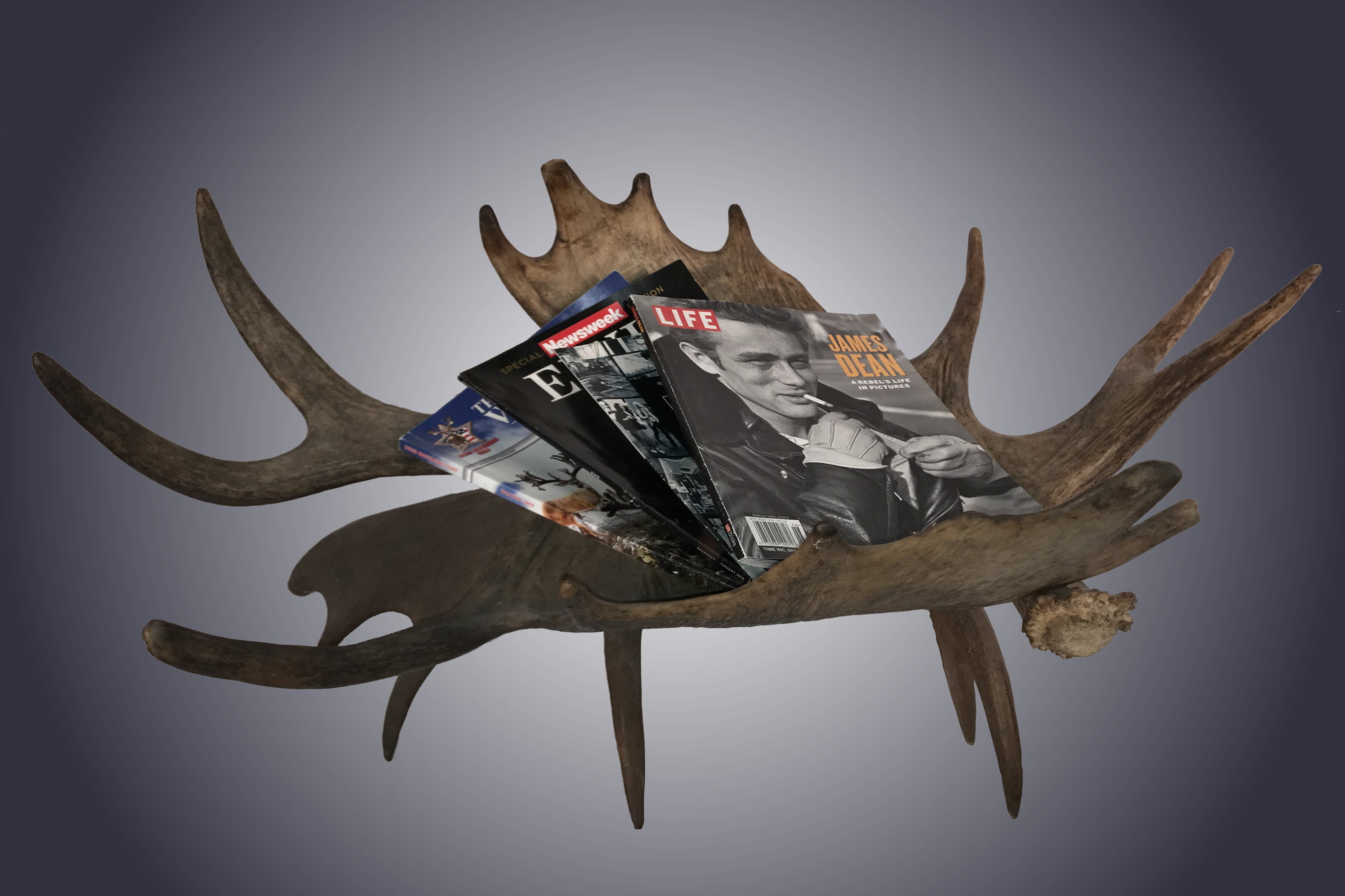Moose Magazine/Log Rack (R-6) - Antlerworx