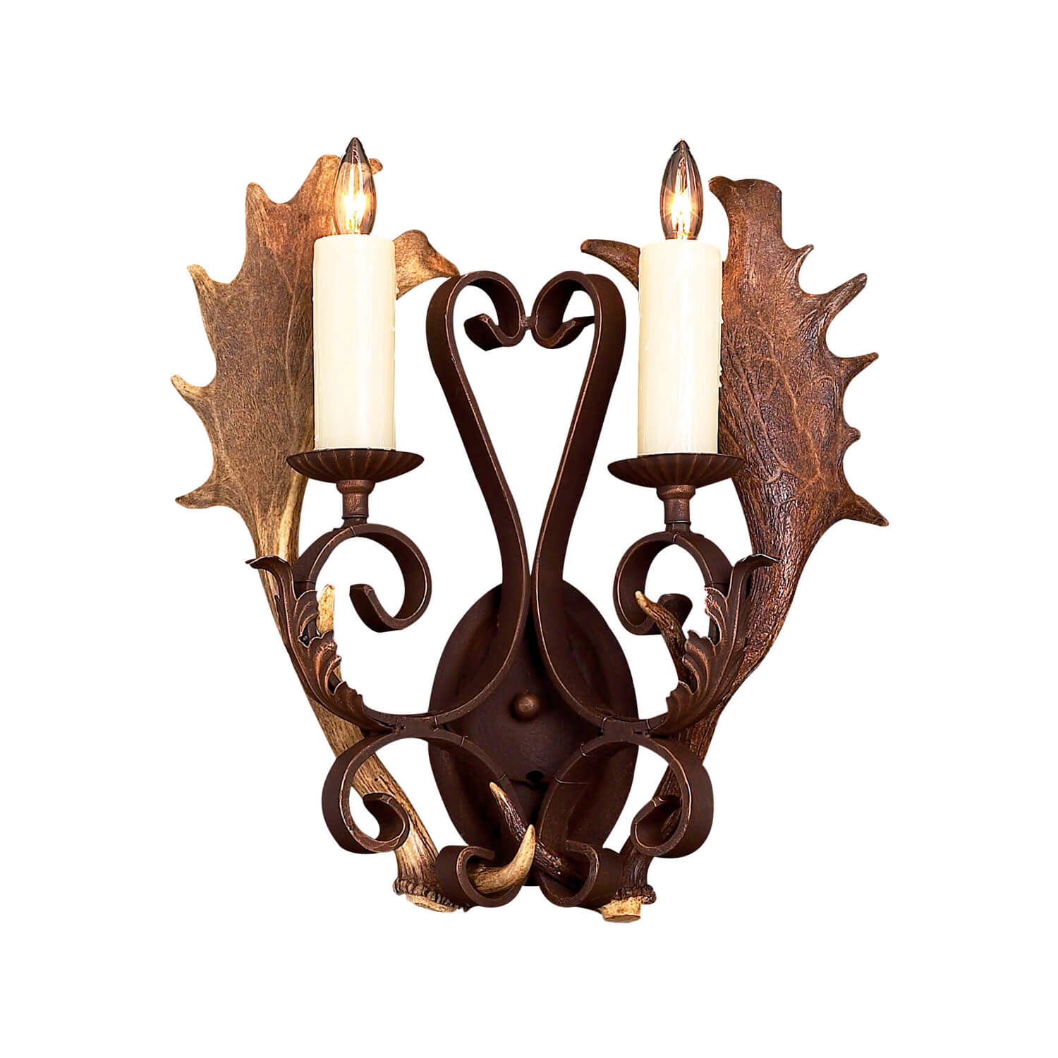 2 Light Fallow Sconce - Antlerworx