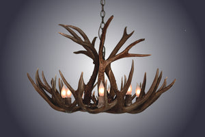 4 Light Small Mule Deer Antler Chandelier (SKU-65S) - Antlerworx