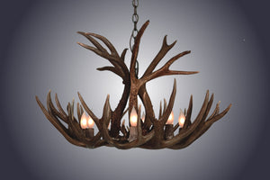 12 Light XXL Mule Deer Antler Chandelier (SKU-65XXL) - Antlerworx