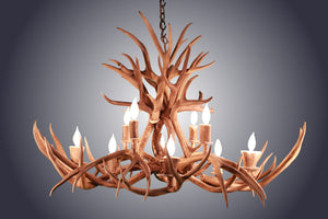 10 Light Oblong Inverted Mule Deer Antler Chandelier (SKU-77) - Antlerworx
