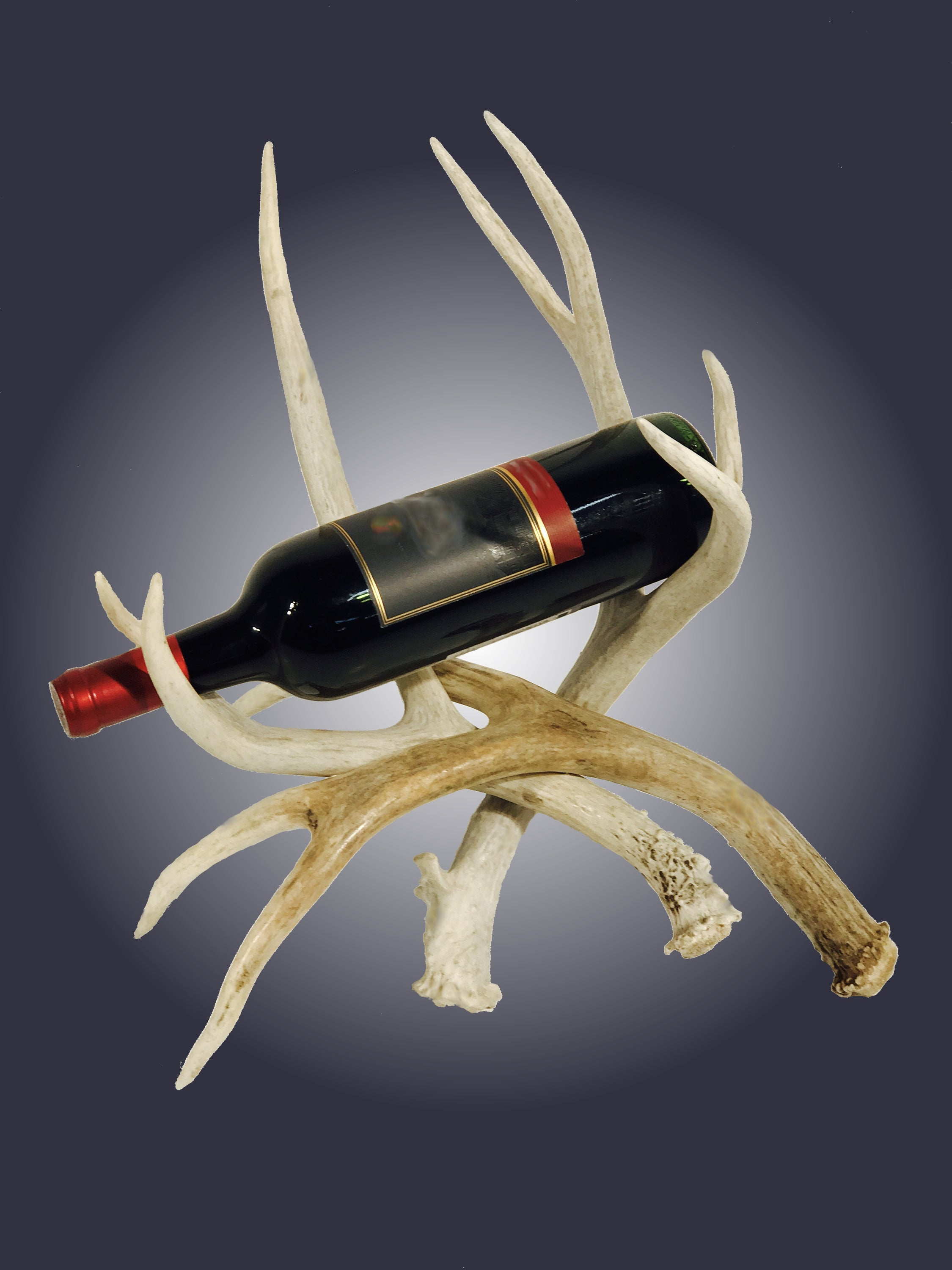 Antler Single Bottle Wine Rack (WR-1) - Antlerworx