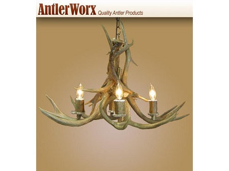 4 Light Inverted Mule Deer Antler Chandelier (AWC-19) - Antlerworx