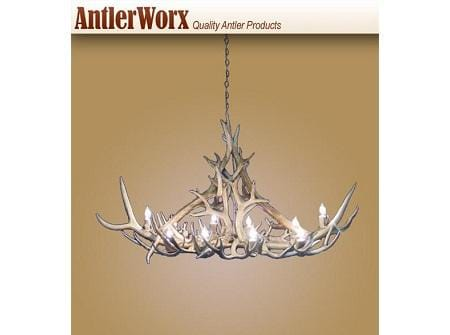 10 Light Oval Elk/Mule Deer Antler Chandelier (AWC-6) - Antlerworx
