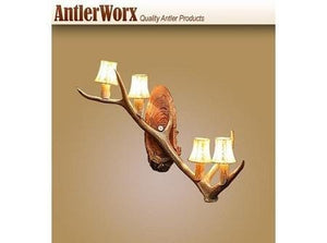 ELK SINGLE ANTLER WALL SCONCE (ES-4)