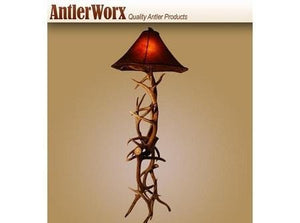 ELK AND MULE DEER ANTLER STANDARD FLOOR LAMP (L-12) - Antlerworx