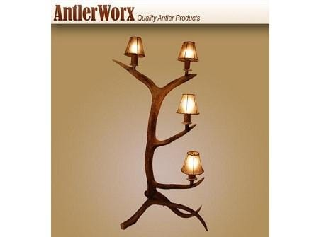 ELK STANDING 4 LIGHT LAMP (L-2) - Antlerworx