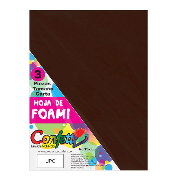 FOAMY CARTA 3 PZ CAFE OSCURO NAEN MNK