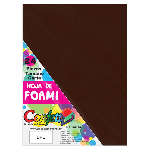 FOAMY CARTA 24 PZ CAFE OSCURO NAEN MNK