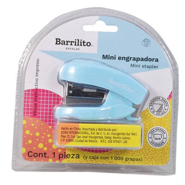 ENGRAPADORA MINI C/GRAPA ESTANDAR 7110 GOBA BARRILITO