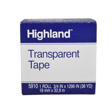 TAPE HIGHLAND TRANSPARENTE 18X33MT 5910 3M MNK