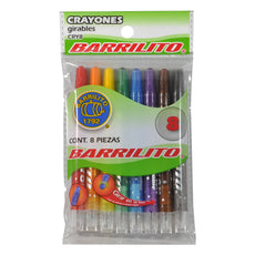 CRAYON GIRABLE BARRILITO 8 PZ CRY8 GOBA BARRILITO MNK