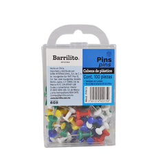 PUSH PINS 100 PZ PIN13 GOBA BARRILITO
