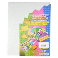 FOAMY CARTA DIAMANTINA 2 PZ BLANCO MNK