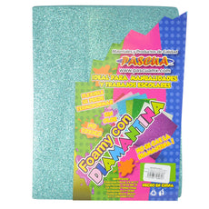 FOAMY CARTA DIAMANTINA 2 PZ AZUL AQUA MNK