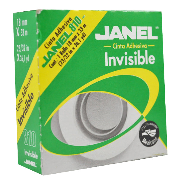 TAPE MAGICO INVISIBLE 18X33 810 JANEL