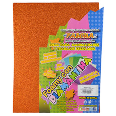FOAMY CARTA DIAMANTINA 2 PZ NARANJA MNK