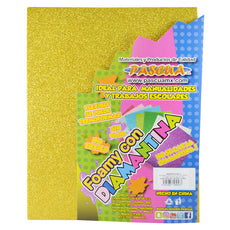 FOAMY CARTA DIAMANTINA 2 PZ ORO MNK