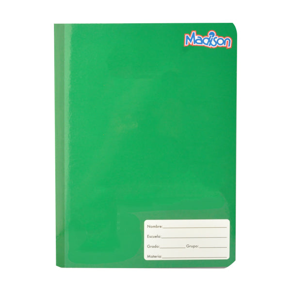 CUADERNO COLLEGE COSIDO MADISON 100 HJ DOBLE RAYA NORMA MNK