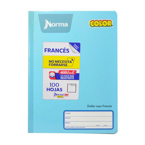 CUADERNO FRANCES COSIDO COLOR 360 BLANCO NORMA MNK