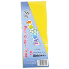 PAPEL CHINA NORMAL AMARILLO HUEVO 5 PZ MNK