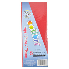PAPEL CHINA NORMAL ROJO 5 PZ MNK