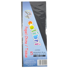 PAPEL CHINA NORMAL NEGRO 5 PZ MNK