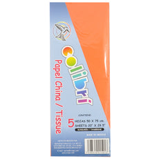 PAPEL CHINA NORMAL NARANJA 5 PZ MNK