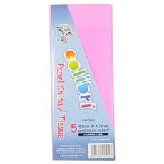 PAPEL CHINA NORMAL ROSA 5 PZ MNK