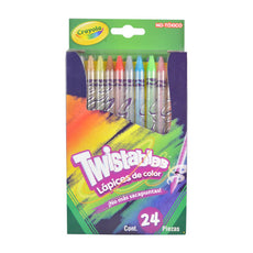 COLORES TWISTABLES  24 PZ CRAYOLA MNK