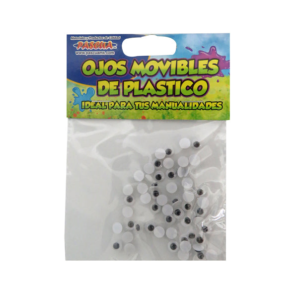 OJO MOVIBLE 6 MM 50 PZ PASCUA