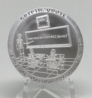 Cryptic Silver Series #1 - Cryptic Quote, BU Finish by Chautauqua Silver Works, 1oz .999 Silver Round