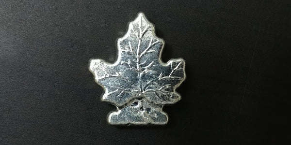 2 oz .999 Silver Maple Leaf. Hand poured by Beaver Bullion