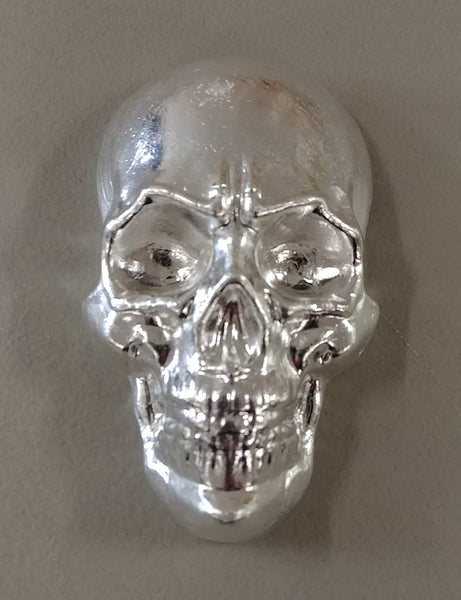10 oz .999 Silver Large Skull. Hand poured by Beaver Bullion
