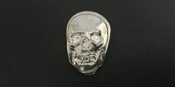 1.3 ozt .999 Silver Skull Hand Poured in Canada by Tomoko's Enterprize