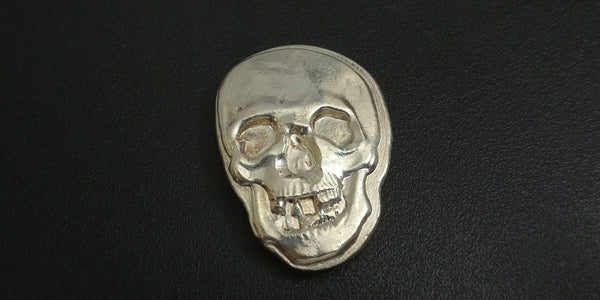 2.8 ozt .999 Large Silver Skull