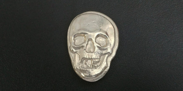 2.95 ozt .999 Large Silver Skull