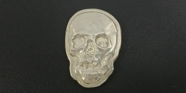 3.0 ozt .999 Large Silver Skull