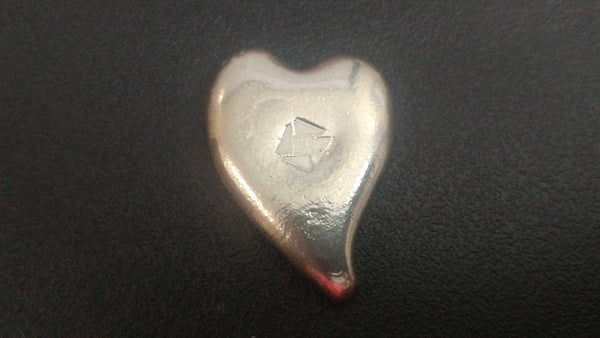 1.5 ozt .999 Silver Heart limited edition of only 10 in the set