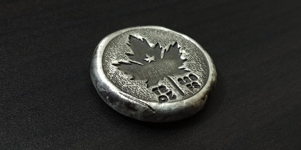 "1 OZ ""CANADIAN SILVER SAVER"" CHANNEL BAR DESIGNED BY MK BARZ .999 FS ROUND LTD 200 - Do Not Choose Add to Cart -Click the link in description to order this item separately."