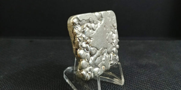"2.6 ozt ""Rice Cake"" Hand Poured .999 Silver bar"