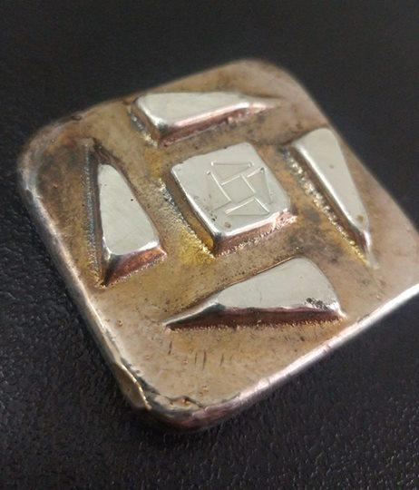 Tomoko's Enterprize 3.0 ozt .999 Silver Logo Bar with Toned Finish
