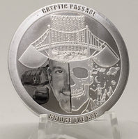Cryptic Silver Series #2 - Cryptic Passage, BU Finish by Chautauqua Silver Works, 1oz .999 Silver Round