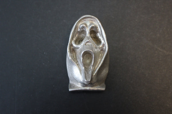 Ghost Face sand cast art bar 3.7 ozt .999 Silver from Tomoko's Enterprize