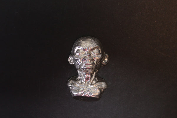 Goblin Creature sand cast art bar 4 ozt .999 Silver from Tomoko's Enterprize
