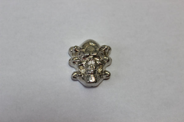 Demon Skull sand cast art bar 3.5 ozt .999 Silver from Tomoko's Enterprize