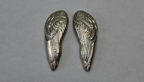 Angel Wing Set sand cast 2.4 oz .999 Silver by Tomoko's Enterprize